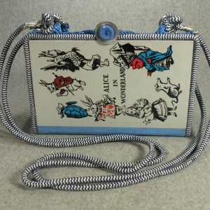 Alice in Wonderland Vintage Book Purse