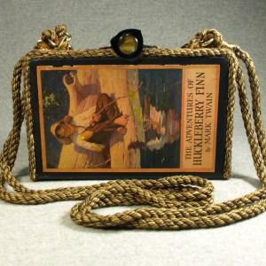 The Adventures of Huckleberry Finn Vintage Book Shoulder Purse
