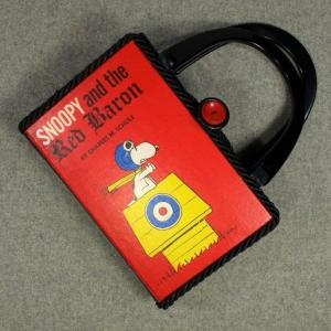 Snoopy and The Red Baron Vintage Book Hand Purse