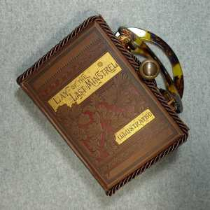 The Lay of The Last Minstrel Vintage Book Hand Purse