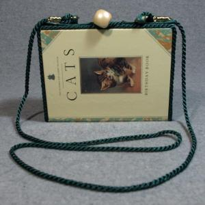 Cats Birthday Book Vintage Book Phone Purse