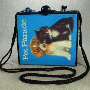 Pet Parade Vintage Book Shoulder Purse