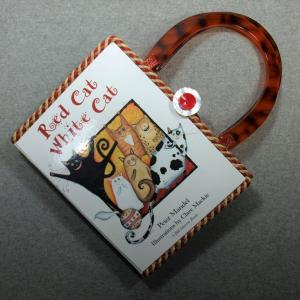 Red Cat, White Cat Vintage Book Hand Purse