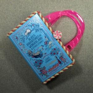 Alice's Adventures in Wonderland Vintage Book Hand Purse