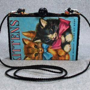 Kittens Vintage Book Purse