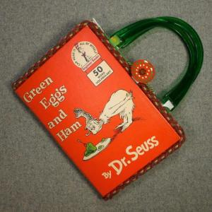 Green Eggs and Ham Vintage Book Hand Purse