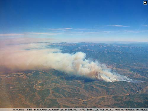 Forest fires in Colorado