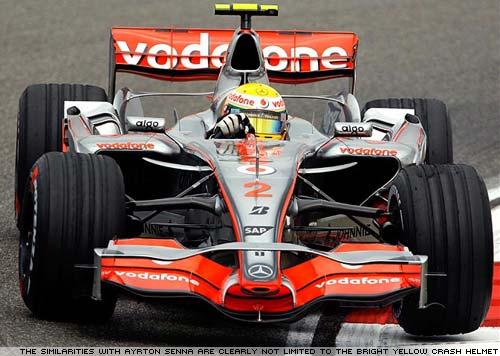 Lewis Hamilton's McLaren Mercedes F1 car