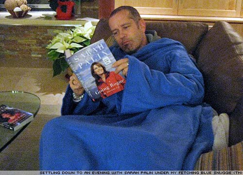Sarah Palin and the snuggie