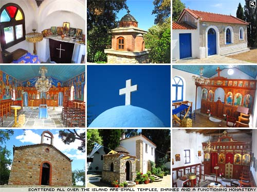 The Greek island of Skiathos.