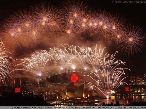Sydney new year fireworks.