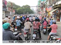 Mopeds in Siagon