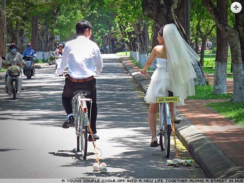 Just married in Hue