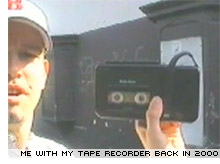 A younger me in the days before podcasting