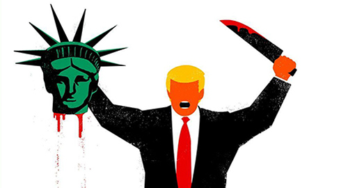 Trump beheading liberty
