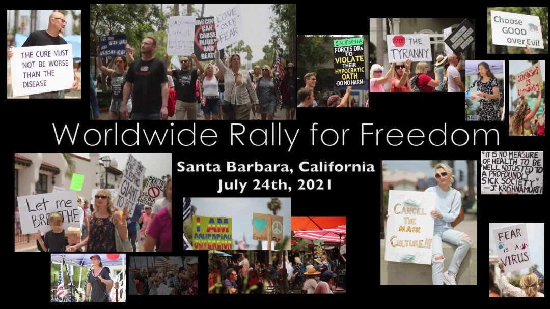 Video poster for Worldwide Rally For Freedom Santa Barbara July 24 20201 highlight video.