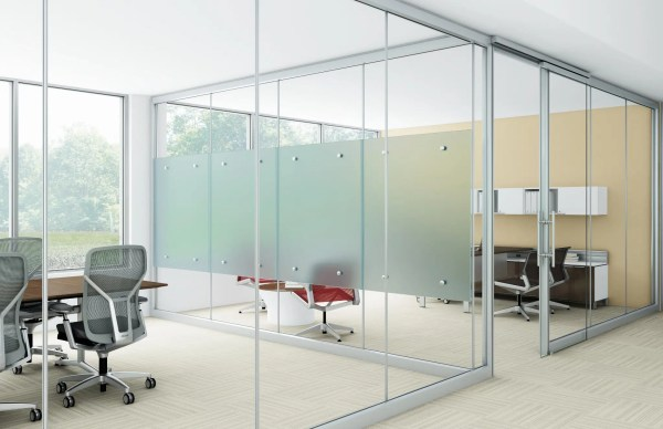 Glass Office Partition Walls