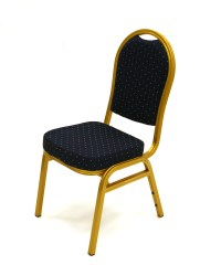 Blue & Gold Aluminium Banqueting Chair