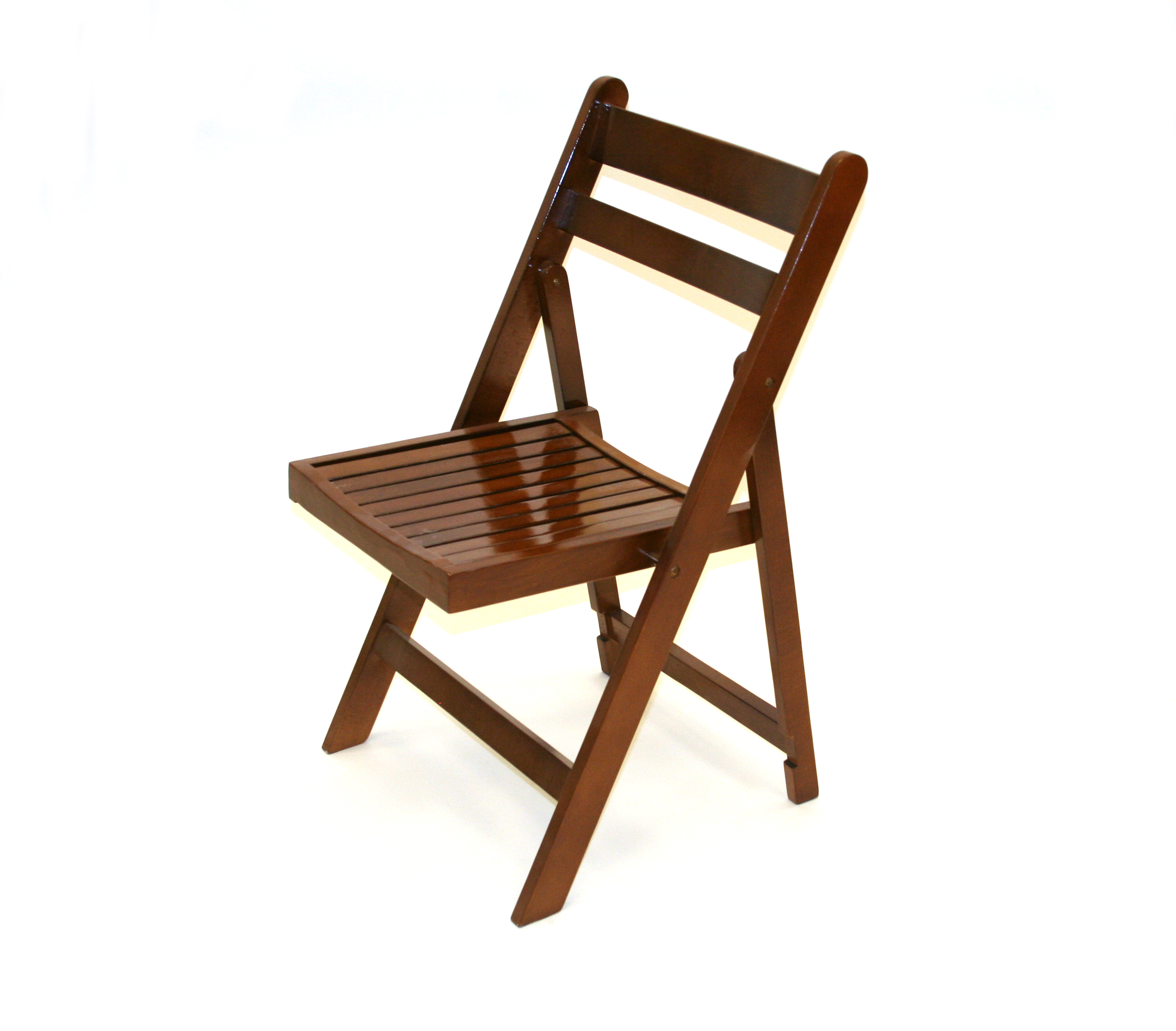 Brown Wooden Folding Chair  Cafes Events Beer Gardens