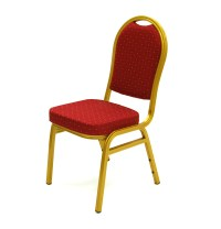 Red Aluminium Banqueting Chair - Gold Frame - BE Furniture ...