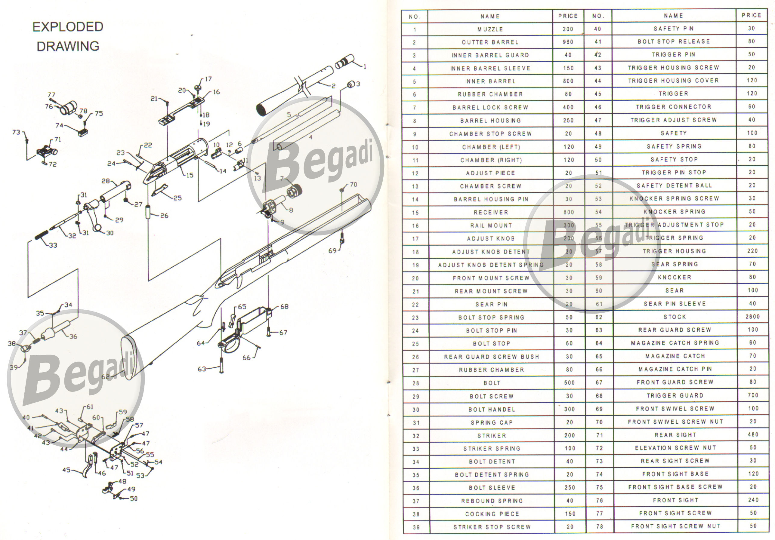 browning hi power parts diagram generator auto start wiring kjw m700 part no 27 33 bsp 2 bolt mit