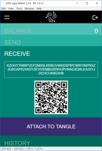 IOTA Wallet - Receive attach to tangle