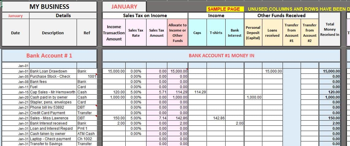 Do your own bookkeeping as simple as filling out a table. Free Excel Bookkeeping Templates