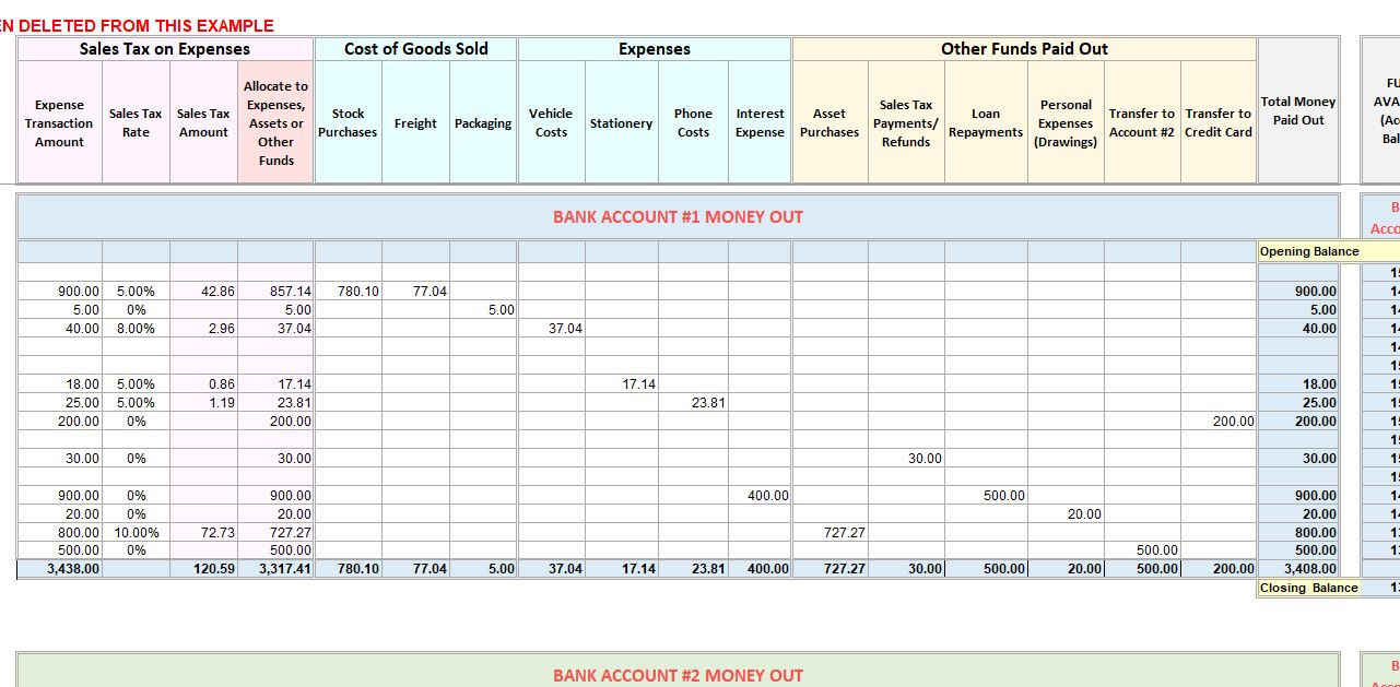 How to create a savings plan Accounting Excel Template Income Expense Tracker With Sales Tax