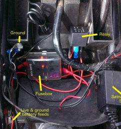 fitting relay fusebox for accessories beginner biker adventures wiring a relay for accessories [ 2028 x 1531 Pixel ]