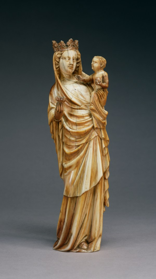 Ivory Virgin and Child Sculpture