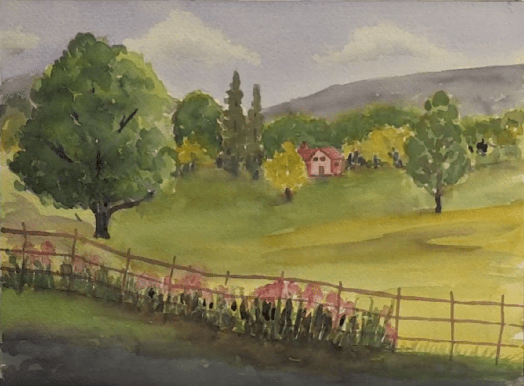 Watercolor Painting Exercise Three Landscape