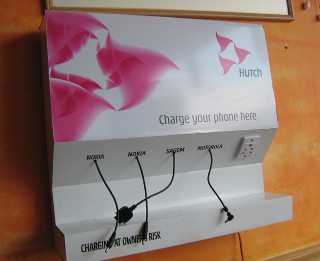 mobile phone charging station, India