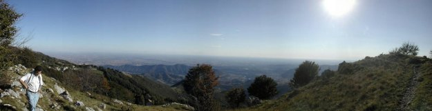 panoramic view from Alpe Giumello, Italy
