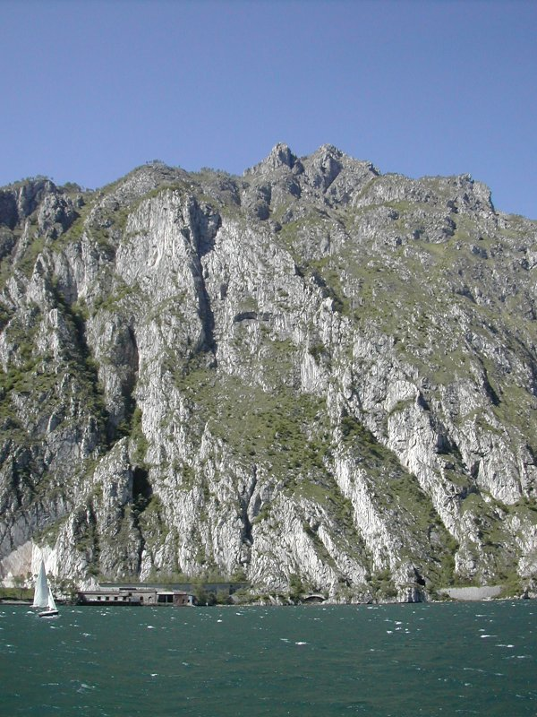 mountainside from boat on Lake Como, Lecco