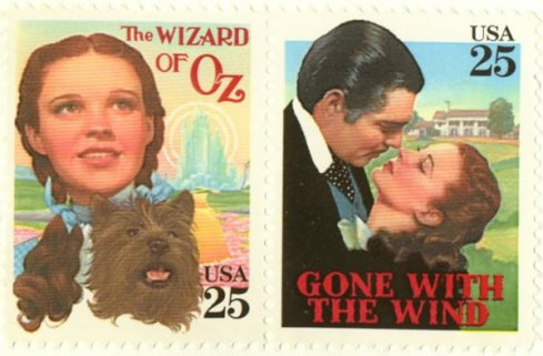 commemorative stamps - The Wizard of Oz and Gone with the Wind