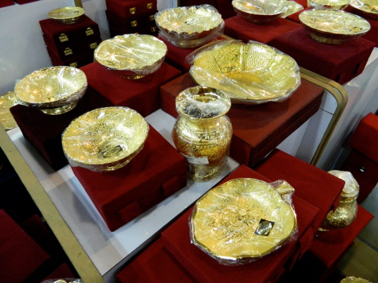 gold-plated goods at CCIE, Delhi