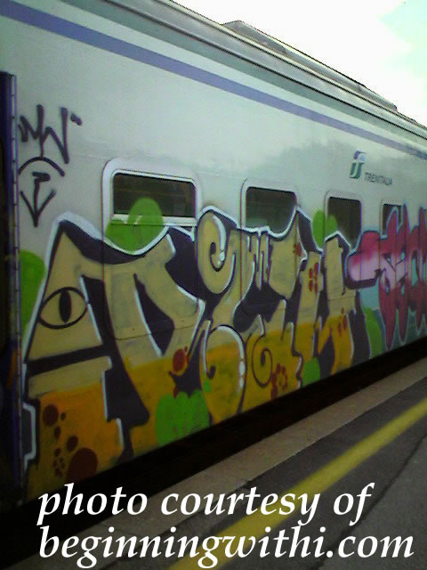 Italian train graffiti