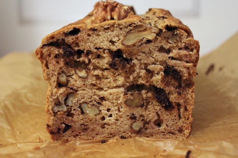 Chocolade banaan walnut cake zonder suiker