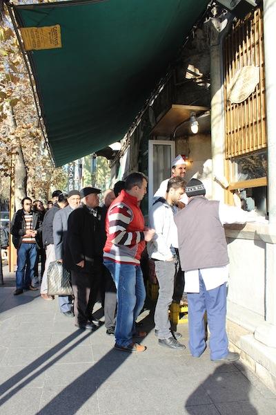 In de rij voor kebab