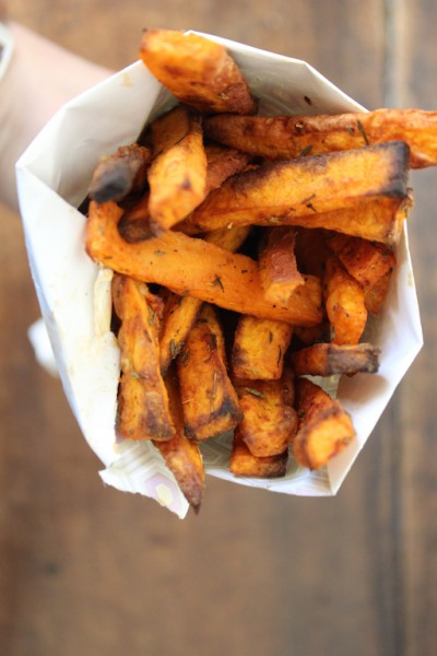 Zoete aardappel frieten