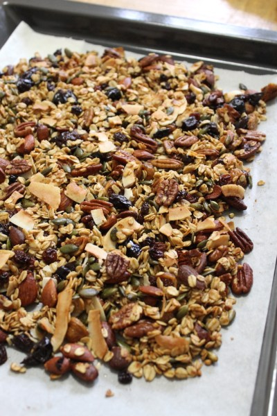 Zelf maken knapperige granola