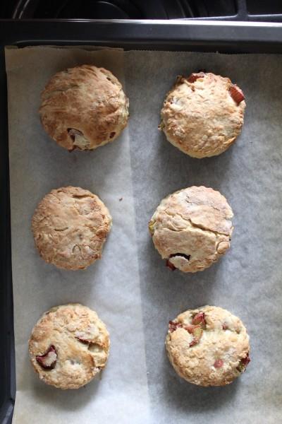 Recept rabarber scones