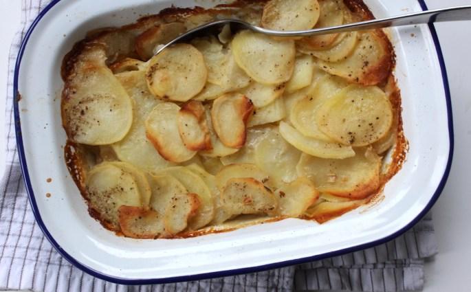 vegan aardappel gratin