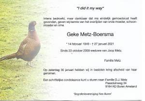 Geke Metz-Boersma