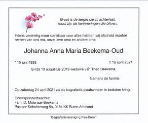 Johanna Beekema