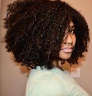 black natural curly