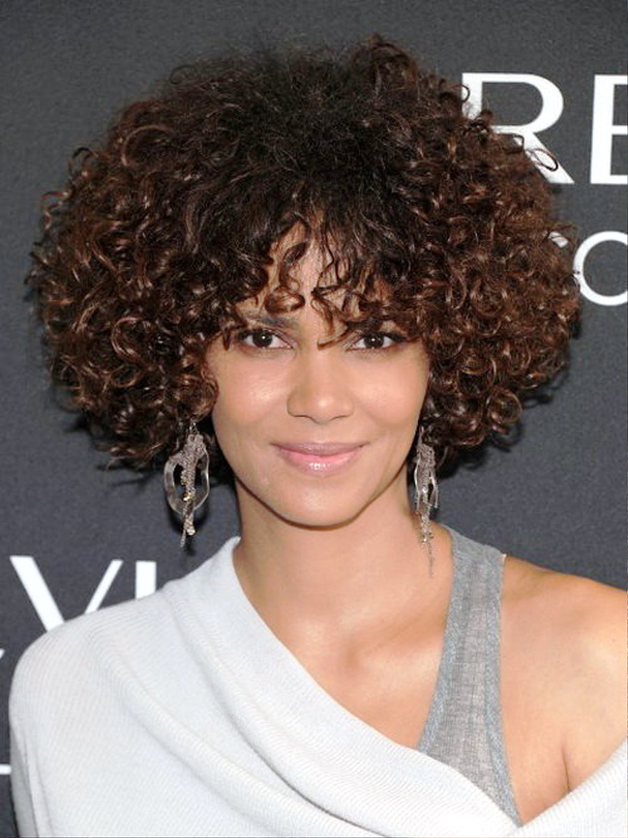 Pictures of Celebrity Short Curly Hairstyles