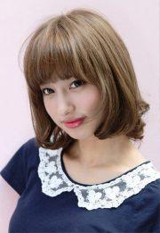lovely short japanese bob hairstyle