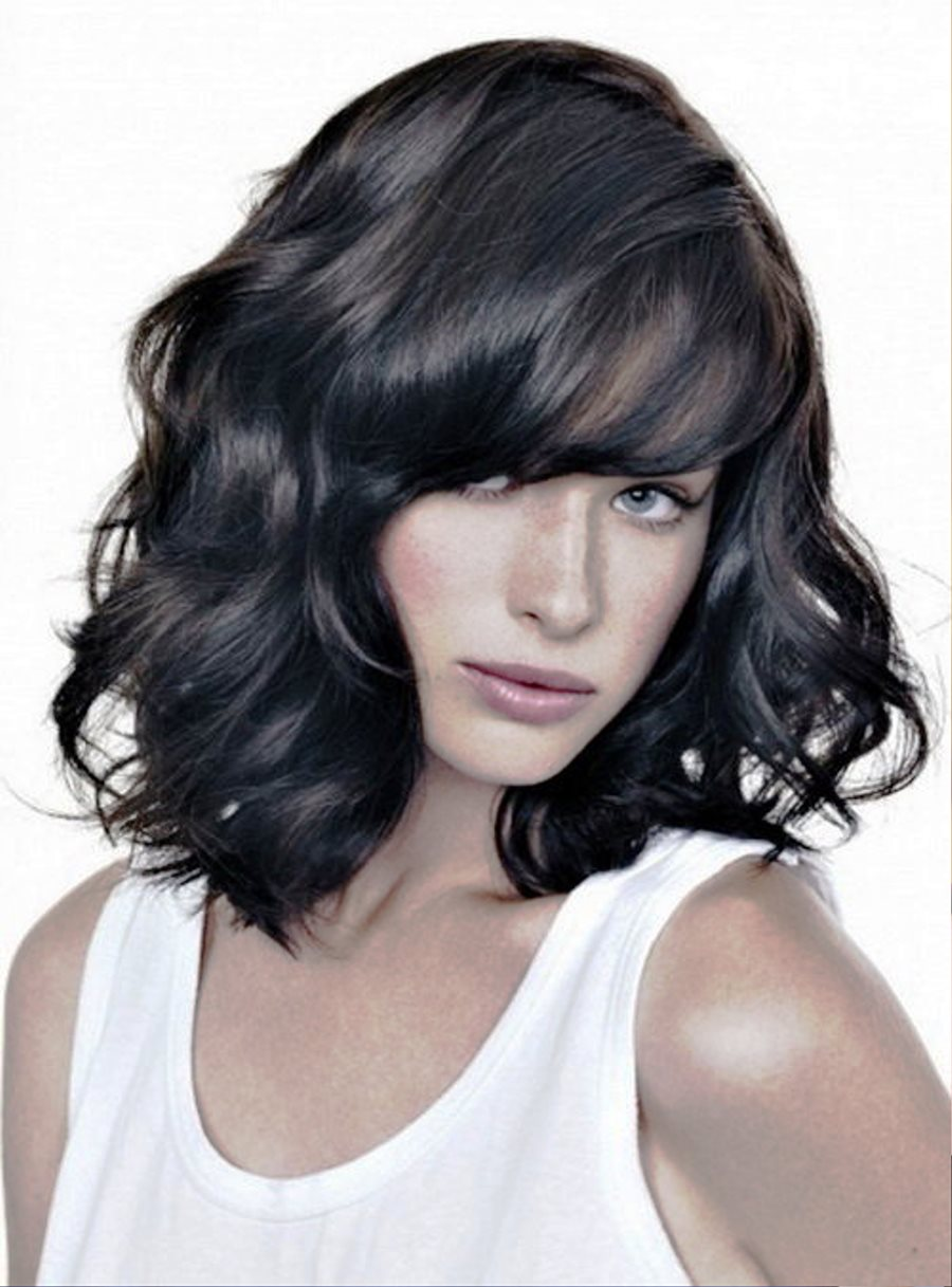 Pictures of Medium Wavy Hairstyles For Black Hair