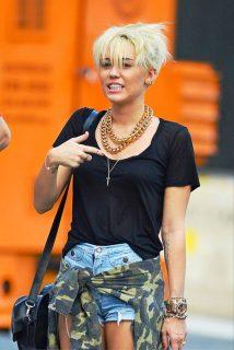 Miley Cyrus Short Pixie Haircut
